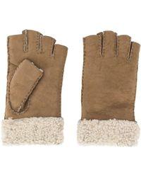 Gala Handschoenen Van Scheerwol - Naturel