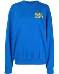 Sporty & Rich ロゴ スウェットシャツ - ブルー