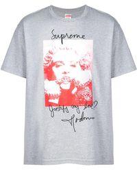 1b4867489de1 Dolce & Gabbana Oversized Madonna Silk Mikado T-Shirt for Men - Lyst