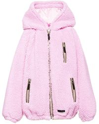 Miu Miu Teddy Bear Blouson Jacket - Pink