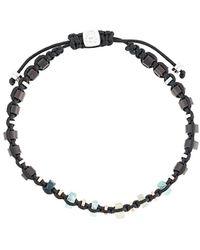 Tateossian Macramé Imperial Bracelet - Black