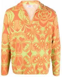 ERL Pullover mit Blumen-Print - Orange