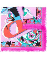 Emilio Pucci Vierkante Sjaal Met Print - Roze