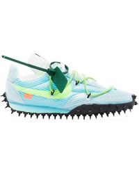 NIKE X OFF-WHITE X Off-white Waffle Racer Sneakers - Blauw
