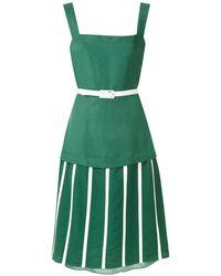 Adriana Degreas Vestido midi Wimbledon - Verde