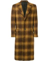 AMI Three Buttons Long Coat - Brown