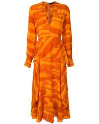 Andrea Marques シルク ドレス - オレンジ