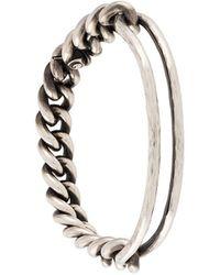 Werkstatt:münchen Asymmetric Chain Bracelet - Metallic