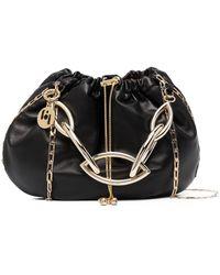Rosantica Bubble Drawstring Shoulder Bag - Black