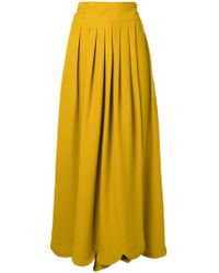 Valentino - Long Pleated Skirt - Lyst