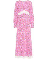 Miu Miu Robe mi-longue Marocain - Rose