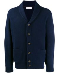 Brunello Cucinelli - Ribbed Knit Cardigan - Lyst