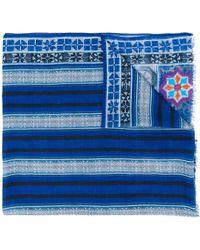 Etro Pashmina con estampado geométrico - Azul