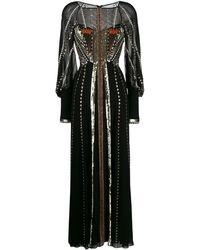 Temperley London Декорированное Платье Макси - Черный