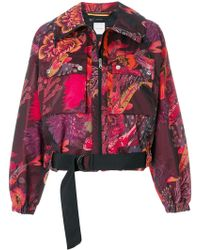 Paul Smith - Floral Print Cropped Jacket - Lyst