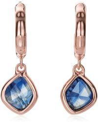 Monica Vinader Siren Mini Nugget Hoop Kyanite Earrings - Metallic