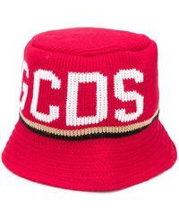 Gcds ロゴ バケットハット - レッド