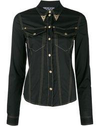 Versace Jeans Couture Джинсовая Рубашка - Черный