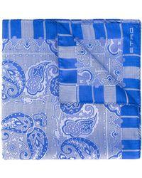 Etro Sjaal Met Paisleyprint - Blauw