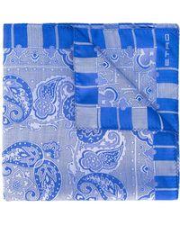 Etro Schal mit Paisleymuster - Blau