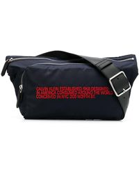 CALVIN KLEIN 205W39NYC Slogan Embroidered Belt Bag - Многоцветный