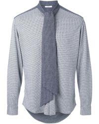 Aganovich - Tie Neck Shirt - Lyst