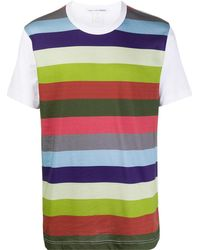 Comme des Garçons ストライプ Tシャツ - ホワイト