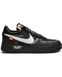 NIKE X OFF-WHITE The 10th: Air Force 1 Low Sneakers - Black
