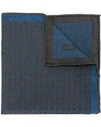 Brioni パターン ポケットチーフ - ブルー