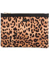 Dolce & Gabbana Leopard Print Make Up Bag - Multicolor
