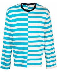 Sunnei ストライプ セーター - ブルー
