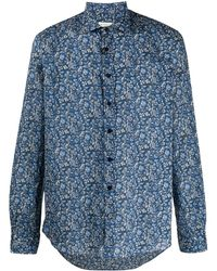 Etro Paisley-print Point Collar Shirt - Blue