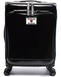 Love Moschino Logo-patch Suitcase - Black