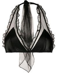 Undercover ラッフルトリム ブラ - ブラック
