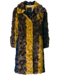 Frankie Morello - Striped Coat - Lyst