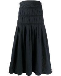 Maharishi Tiered Maxi Skirt - Blue