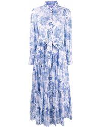 Mc2 Saint Barth - Платье-рубашка С Цветочным Принтом - Lyst