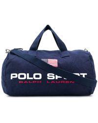 Polo Ralph Lauren ロゴ ボストンバッグ - ブルー