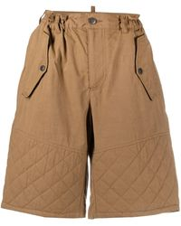 DSquared² Quilted Knee-length Shorts - Brown