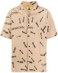 Chinatown Market プリント ショートスリーブシャツ - ブラウン