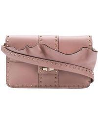 Valentino Garavani Rockstud Crossbody Bag - Розовый