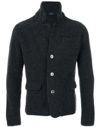 Zanone - Buttoned Jacket - Lyst