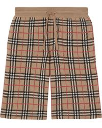 Burberry Check Track Shorts - Brown