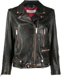 Golden Goose Deluxe Brand Байкерская Куртка На Молнии - Черный