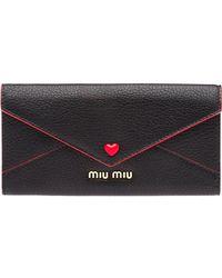 Miu Miu - Madras Love Envelope Wallet - Lyst