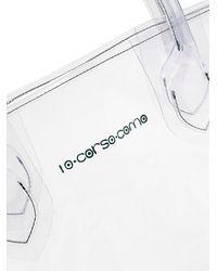 10 Corso Como Large Mermaid-print Transparent Tote Bag - Multicolour