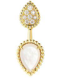 Boucheron 18kt Yellow Gold Diamond Serpent Boheme Earring - Metallic