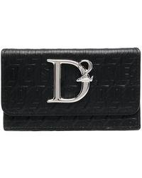 DSquared² Кошелек С Тисненым Логотипом - Черный