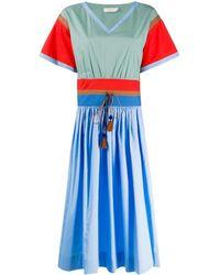 Tory Burch Vネック ドレス - ブルー