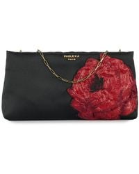 Paule Ka - Floral-embroidered Clutch - Lyst